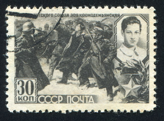 Zoya Kosmodemjanskaja and nazi soldiers