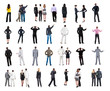 "collection ""Back view of  business people""."