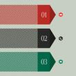 Trendy banner-arrow design for infographics