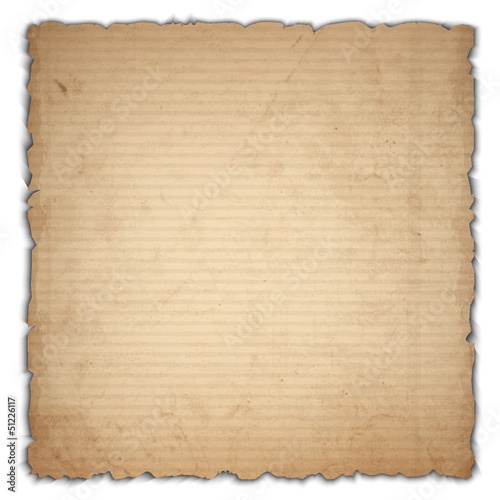 Sheet of old cardboard