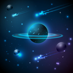 Abstract background. Space and planet