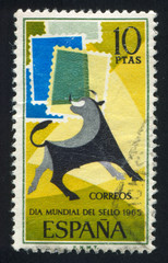 Bull and Symbolic Stamps