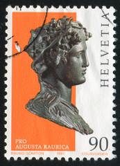 Bronze bust of Bacchus