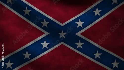 American Confederate flag.
