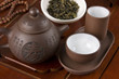 Set for traditional Chinese tea ceremony close up