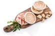 Tigelle con prosciutto, parmigiano e rucola