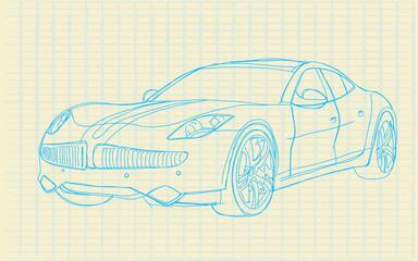 sketch car_on paper