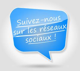 Bulle : Suivez-nous sur les réseaux sociaux !