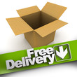 Free delivery, open box