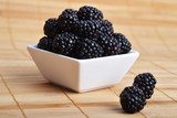 blackberry in bowl