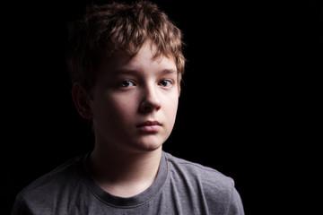 Sad teenage boy