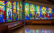 Colorful Stain Glass in a Church