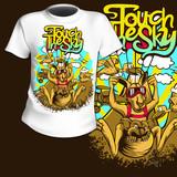 T-Shirt Print Comic Kangaroo