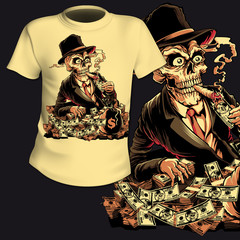 T-Shirt Print Skull
