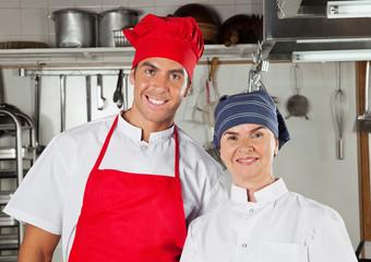 Confident Chefs In Kitchen