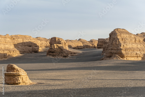 Yardang landform in Dunhuang, Gansu of China
