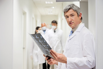 Radiologist Holding X-ray