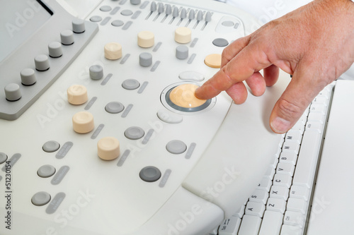 Hand Operating Ultrasound Machine