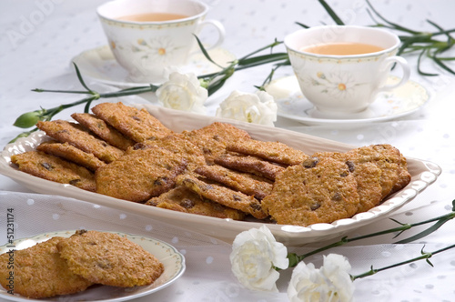 Healthy cookies with carrot