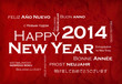 Happy New Year 2014 international language tag cloud