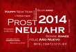 Prost Neujahr 2014 internationalen traduction video