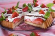 Easy, light and delicious cake with strawberries