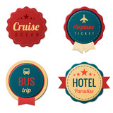 Travel Vintage Labels template collection. Tourism Stickers