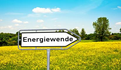 Energiewende Wegweiserschild