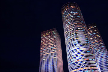 night skyscrapers