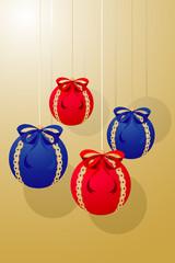 Xmas balls decoration (illustration)
