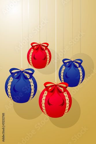 Xmas balls decoration (illustration)