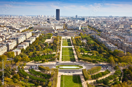 Field of Mars. Top view. Paris. France