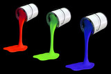 RGB paint cans