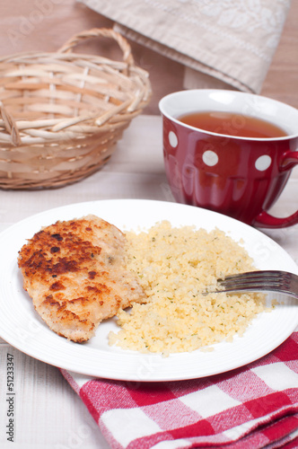 Chicken cutlets with breadcrumbs and cheese