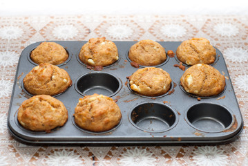 salty muffins with cheese