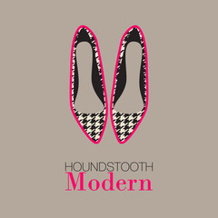 Houndstooth women's shoes