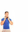 Sportler mit Kopfhörer