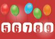 chiffres et ballons