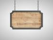 wood plate in metal frame
