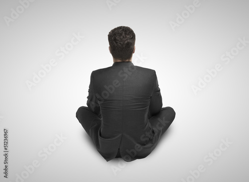businessman sitting