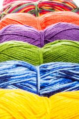 Set of knitting yarn