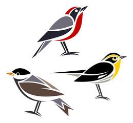 Stylized birds --- Warblers