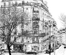 Paris sous la première neige de l'hiver