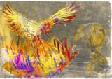 Greek myths (Full sized hand drawing) - Phoenix (Benu) poster