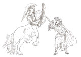 Greek myth and legends - Theseus and Centaur poster