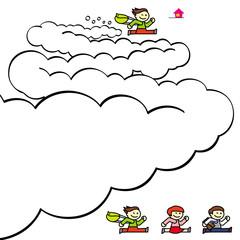 走るキャラクター2