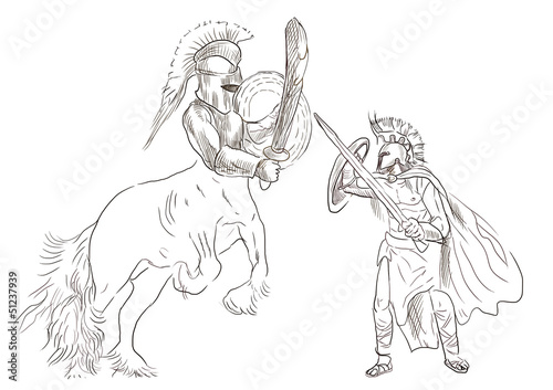 Greek myth and legends - Theseus and Centaur