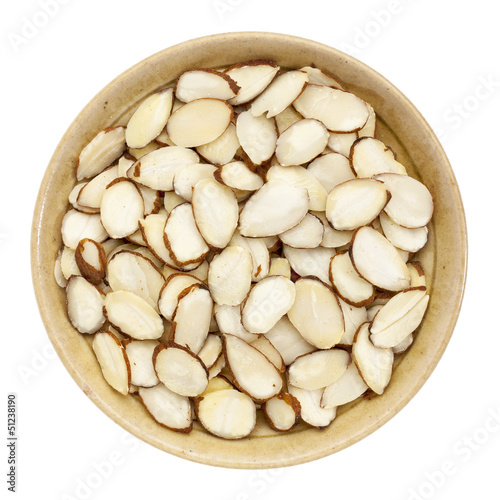 raw sliced almond