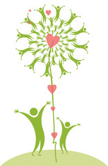 Symbolic green illustration