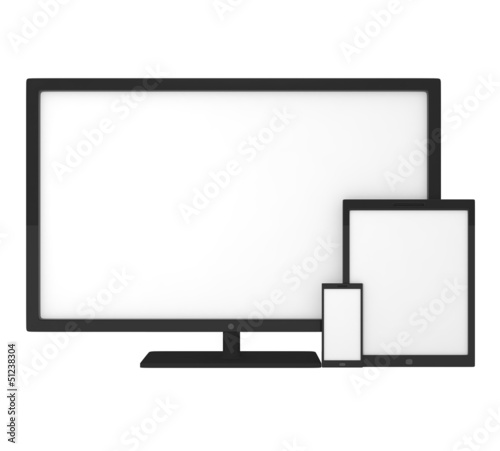Blank screens on smartphone, tablet pc and monitor